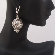 Antique Silver Ribbon Earrings