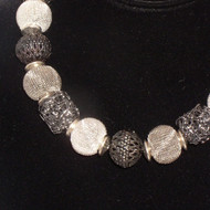Many Shades of Gray Metal Necklace