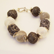 Many Shades of Gray Metal Bracelet