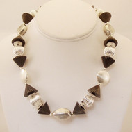 Corrugated Cones and Silver Necklace