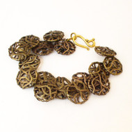 Bronze Wire Ribbon Bracelet