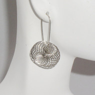 Antique Silver Pinwheel Earrings