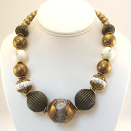 Tibetan Cobal Amber Necklace - 1 of 2 left.