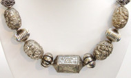 """""""Long Life"""" Chinese Silver Necklace"""