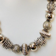 Mixed Antique Silver Finished Necklace