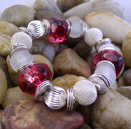 Red Marble Lucite Bracelet