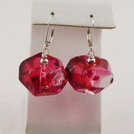 Red Marble Lucite Earrings