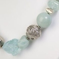 Rough-cut Amazonite accompanied by Metals, Silver and Glass Quartz