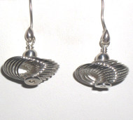 Silvertone Spiral Earrings