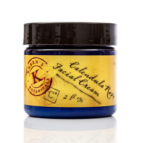 Calendula Rose Facial Cream, organic Calendula Cream, anti-aging cream, daily moisturizer, sensitive skin moisturizer, natural skin cream, mature skin cream,  night cream, herbal skin care, quickly absorbed face cream, organic face cream,