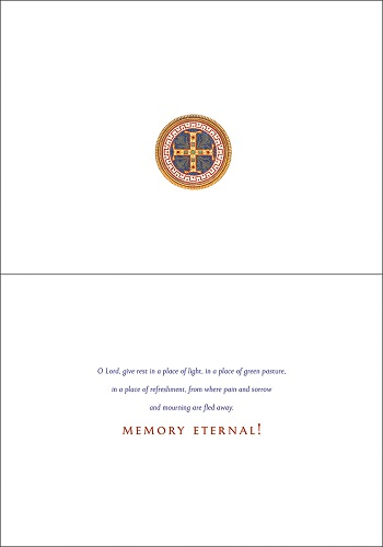 Memory Eternal, Roses and Candles, pack of 10 cards