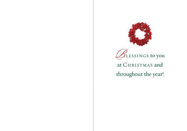 Merry Christmas, pack of 15 Christmas cards