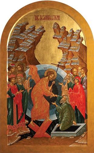 The Resurrection, large icon, shaped