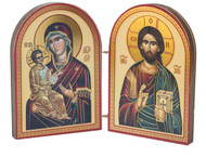 Diptych: Christ and Mother of God, large icons