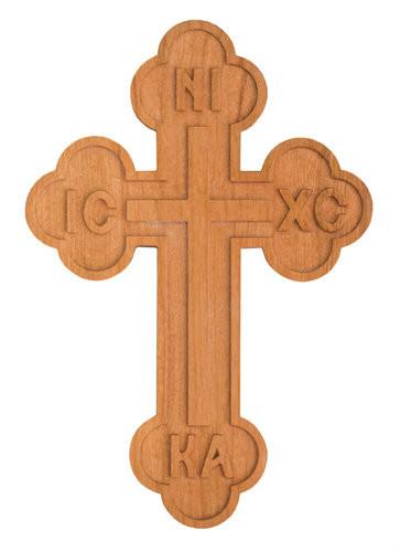 Wood Wall Cross, Budded with ICXC NIKA