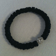 Prayer Bracelet, 33 knots with silver-tone cross