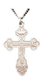Sterling silver St Xenia cross with chain