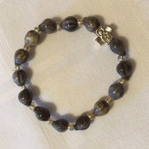 Orthodox Bracelet Tears Of Virgin Mary Beads with Metal Cross Prayer Rope