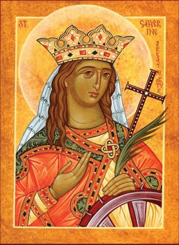 Saint Catherine, medium icon