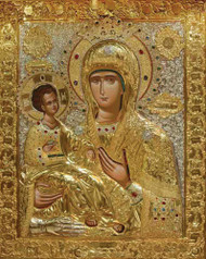 Mother of God of the Three Hands, medium icon