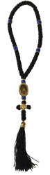 Prayer Rope, 50 knot, with an icon, a knot cross, and a tassel