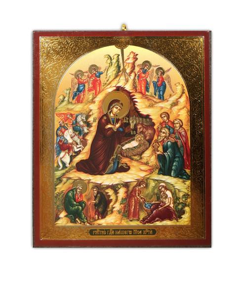 Christmas Ornament, small Nativity Icon