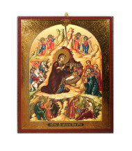 Christmas Ornament, small Nativity Icon
