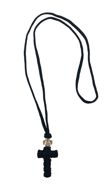 Knot Cross, with 22 inch cord necklace. Made in Serbia.