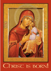 Virgin & Child Icon, individual Christmas card