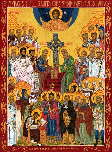 All Saints of Scotland, large icon