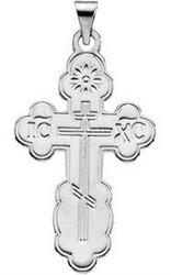 St. Olga Cross, 14k white gold, extra-large