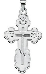 St. Olga Cross, 14k white gold, extra-large