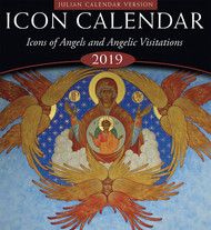 """2019 Icon Calendar, Icons of Angels and Angelic Visitations. This calendar uses dates according to the old calendar - also known as the """"Julian"""" calendar."""