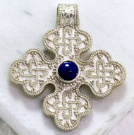 Birka Cross, sterling silver with blue lapis