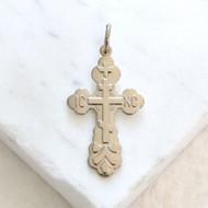 008273 St. Xenia Cross, sterling silver