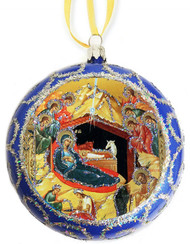 Ornament, Nativity of Our Lord, blue