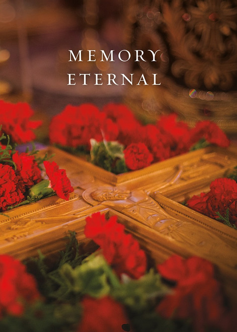 Memory Eternal, Red Carnations, pack of 10 cards