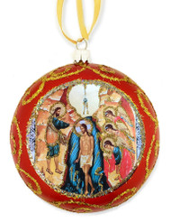 Ornament, Theophany, red