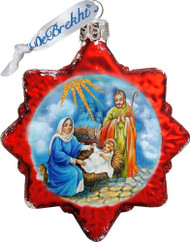 Ornament, Nativity Scene Star, red
