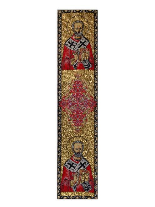 Tapestry bookmark, Saint Nicholas
