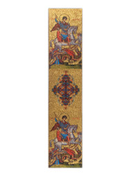 Tapestry bookmark, Saint George