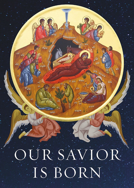 Our Savior is Born, pack of 15 Christmas cards