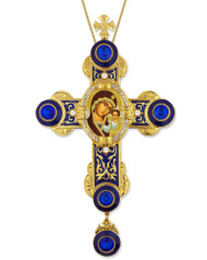 Cross, bejeweled with Mother of God icon