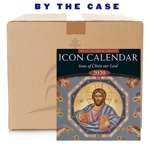 2020 Icon Calendar, Icons of Christ our Lord (Julian version, old calendar, case of 53)