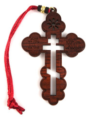 Cross Ornament, three-bar cut-out design