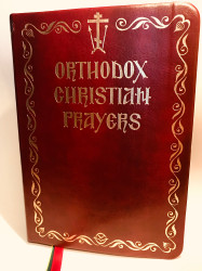 Orthodox Christian Prayers, leather cover