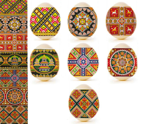 Egg Wraps with Tapestry Designs, 7-pack