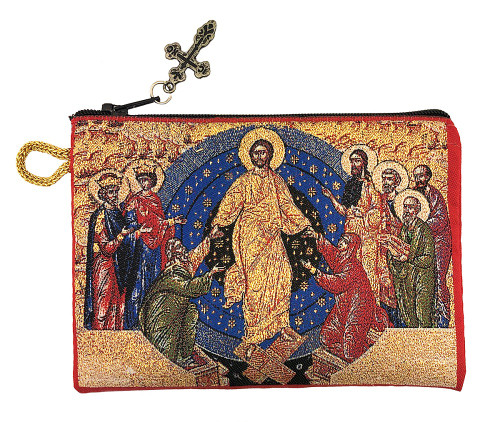 Tapestry pouch, icon of the Resurrection