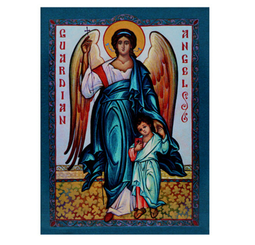 Magnet, Guardian angel with boy icon on thick and durable 1/4-inch acrylic.