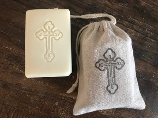 Baptismal soap with pouch